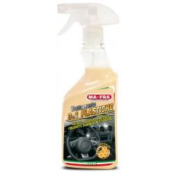Detergente 3in1 TRATTAMENTO PLASTICHE spray lucida protegge CRUSCOTTO interni AUTO MA-FRA