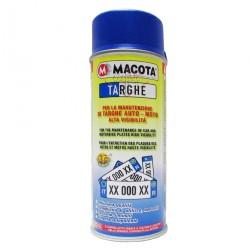 Vernice TARGHE BLU smalto spray targa auto moto caravan 400 ml MACOTA