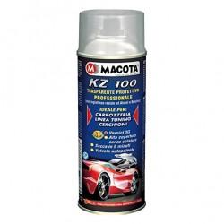 KZ100 spray TRASPARENTE LUCIDO protettivo professionale per carrozzeria tuning cerchioni Auto Moto 400 ml MACOTA
