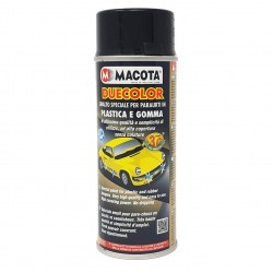 DUECOLOR NERO LUCIDO smalto acrilico vernice per PARAURTI auto PLASTICA GOMMA 400 ml MACOTA
